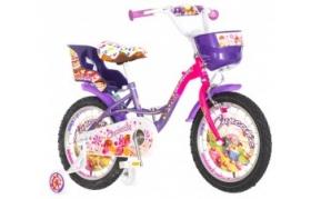 Visitor Cupcake lányka kerékpár 16 rózsaszín-lila