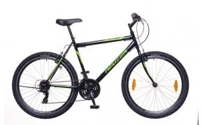 Neuzer Nelson 30 MTB kerékpár férfi fekete/neon zöld-zöld