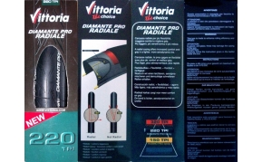 VITTORIA DIAMANTE PRO RADIALE gumi külső hajtogatós 220TPI!!!