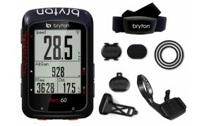 BRYTON AERO 60T GPS komputer szett (HRM+SPD+CAD+Aero mount)