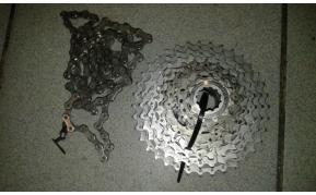 Shimano SLX fogaskoszorú+lánc használt