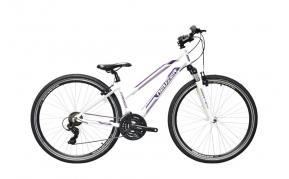 Neuzer X100 női cross trekking kerékpár fehér/bordó-mályva