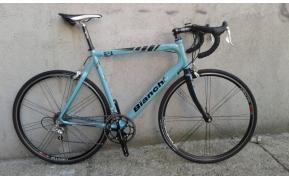 Bianchi 928 celeste carbon országúti kerékpár használt 58- 57cm