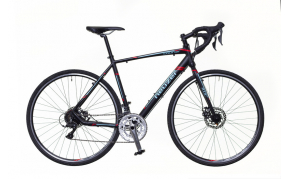 Neuzer Courier CX speeder kerékpár fekete/türkiz-piros matt 50cm