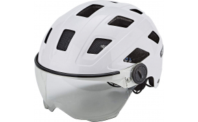 ABUS HYBAN+ clear visor SISAK cream white L