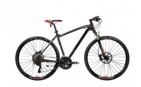 Gepida Alboin 700CRS cross trekking férfi kerékpár 48cm fekete-fehér