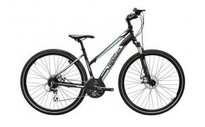 NEUZER X200 Disc női cross trekking kerékpár fekete/fehér- kék