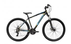 Neuzer Jumbo Hobby 29er disc MTB kerékpár fekete/türkiz-sárga