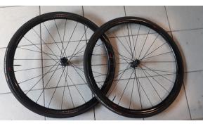 Bontrager Aeolus XXX carbon szingós disc országúti kerékszett használt