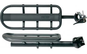 BikeFun alumínium csomagtartó nyeregcsőre fekete