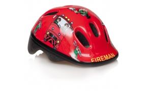 Bikefun Ducky piros fireman gyermek sisak 44-48cm