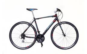 Neuzer Courier Speeder Acera kerékpár fekete/türkiz-piros matt 46cm