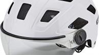 ABUS HYBAN+ clear visor SISAK cream white L