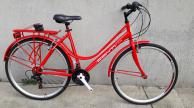 Conti GT10 acél vázas női trekking kerékpár piros