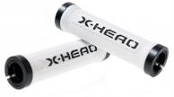Bikefun X-Head Lock-On markolat fehér-fekete